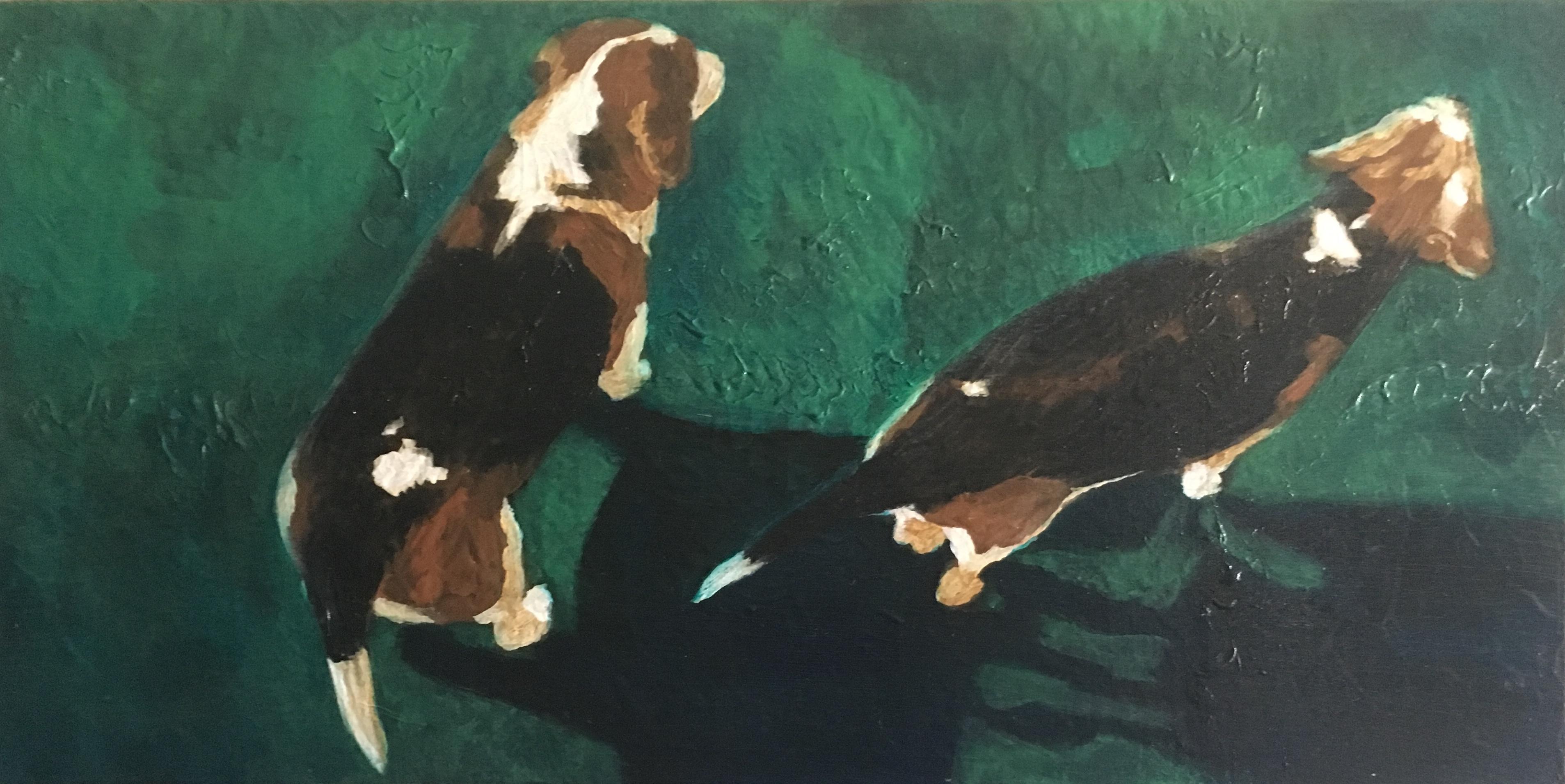 Painting - Buddy & Bosco